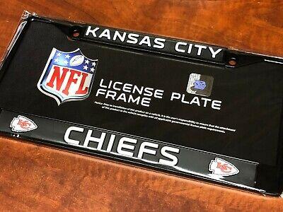 1 Kansas City Chiefs Black Automobile License Plate Frame Nice Raised Graphics 1 Kansas City Chiefs Framed