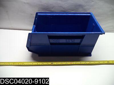 Used Qty10 Qus240 Blue 14-34 X 8-14 X 7 Blue Stacking Storage Bins