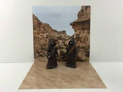 "custom star wars tatooine desert backdrop ikea detolf display 12"" sideshow etc"