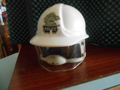 Vintage New Hampshire State Police Rior Gear Motorcycle Helmet Obsolete