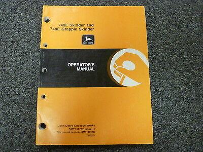 John Deere 740e Skidder 748e Grapple Skidder Owner Operator Manual Omt131732