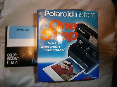 N E W RARE AS N E W Polaroid 600 One Step Flash FILM INCLUSIVE