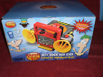 DISNEY Phineas And Ferb Best Boom Box Ever, CD Player, New In Box  GREAT (Best Boombox Cd Player)