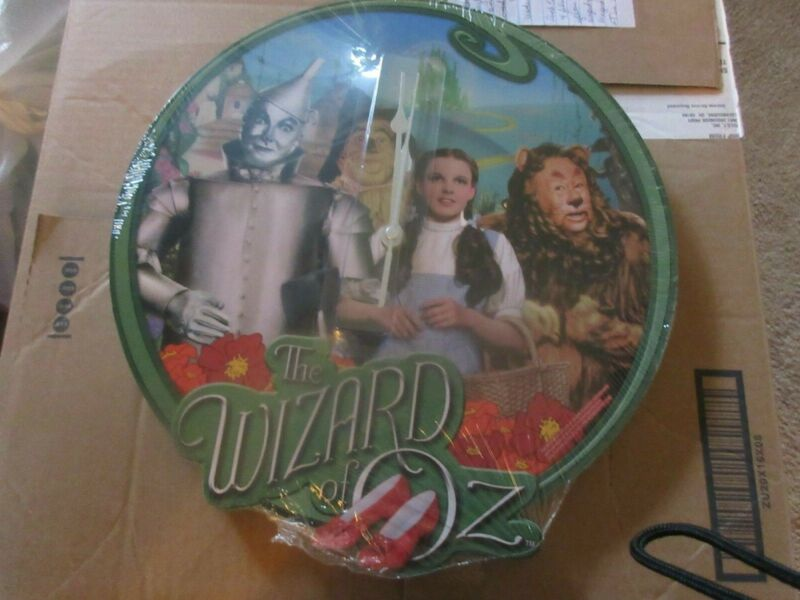Wizard of Oz Wall Clock - Dorothy, Tinman, Scarecrow and Lion - New 13 inches