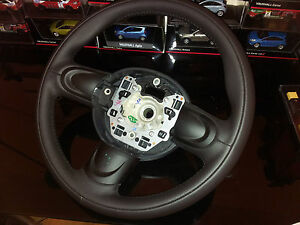 BMW MINI 3 SPOKE STEERING WHEEL R55 R56 R57 LEATHER TYPE STITCHED NEW UNUSED