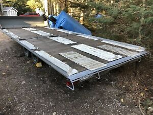 Galvanized  20' Dual Axle Quad Trailer with Electric Brakes