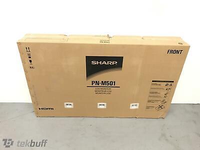 "Sharp PN-M501 50"" 1920X1080 LED LCD Display PNM501 Digital Signage"