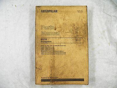 Cat Caterpillar 637d Scraper Parts Manual 20w 21w 22w 23w Sebp1061 1983