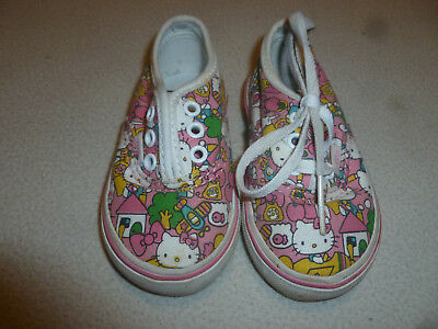 HELLO KITTY VANS SHOES GIRL TODDLER SIZE 4T JAPAN ANIME SNEAKERS TENNIS SHOES    - Toddler Anime