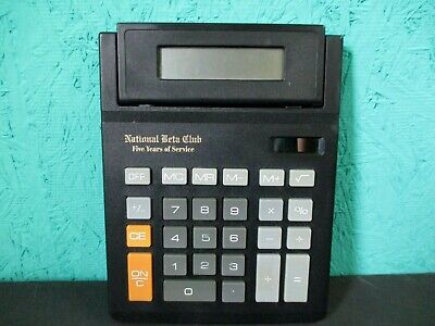 National Beta Club Five Years Of Service Calculator Black Solar Powered-a1
