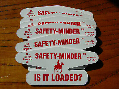 "Marlin Firearms Co. IS IT LOADED? Gun Rifle pistol ""SAFETY-MINDER"" tags Qty. 25"