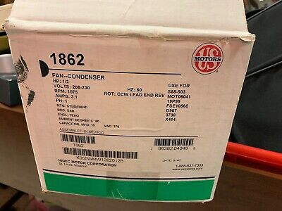 Emerson Us Motors Nidec 1862 Ac Condenser Fan Motor 12 Hp 220 Volt