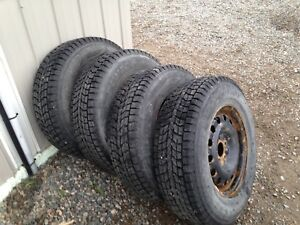 Dunlop winter tires on rims