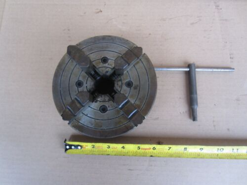 """#4006-51 Skinner for South Bend 6"""" Lathe Chuck 4 Independent Jaws 1 1/2"""" x 8 TPI"""