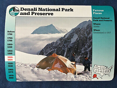 DENALI NATIONAL PARK AND PRESERVE (Famous Places) Groiler STORY OF AMERICA Card