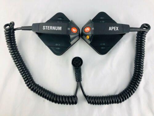 Physio-Control Quik-Look Lifepak 20 Standard Adult Hard Paddles - APEX STERNUM