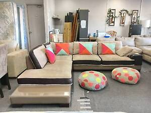 TODAY DELIVERY MODERN LEATHER AND FABRIC L SHAPED sofa SALE NOW Belmont Belmont Area Preview