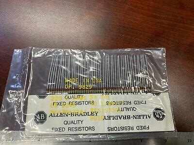 50-pcs Lot Allen Bradley Carbon Comp Resistors Rc07gf224j 14w 220k Ohm