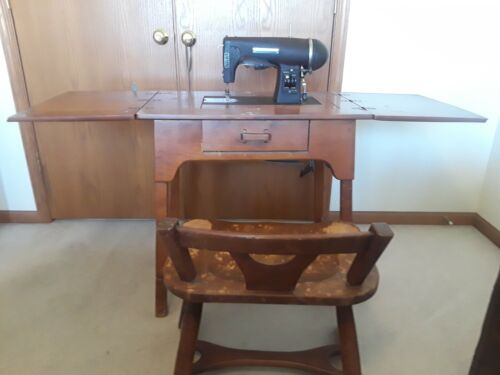 Antique Kenmore 1942 Imperial Rotary Sewing Machine with Cabinet&Chair 117-591