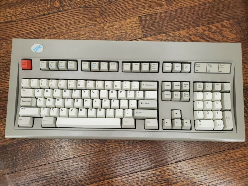 Vintage Keyboard IBM Model M Industrial Gray Bolt Modded - READ DESCRIPTION