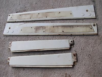 International 656 Ih 666 Farmall Tractor 4 Orignal Ihc White Hood Skirt Panels