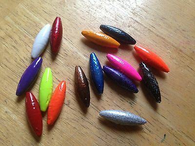10 Pack of Lure Bodies, Make Musky, Salmon Inline Spinners & Use as Slip Sinkers