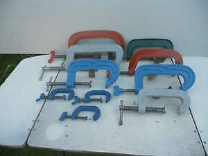 CLAMPS - 10 ASSORTED  ''G'' CLAMPS Peterhead Port Adelaide Area Preview