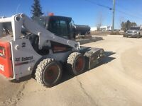 Skid steer/bobcat services,sweeping,landscaping,hauling