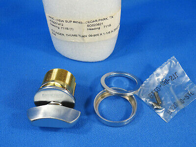 Schlage 09-905 Thumb Turn Mortise Cylinder Satin Chrome 1-18in