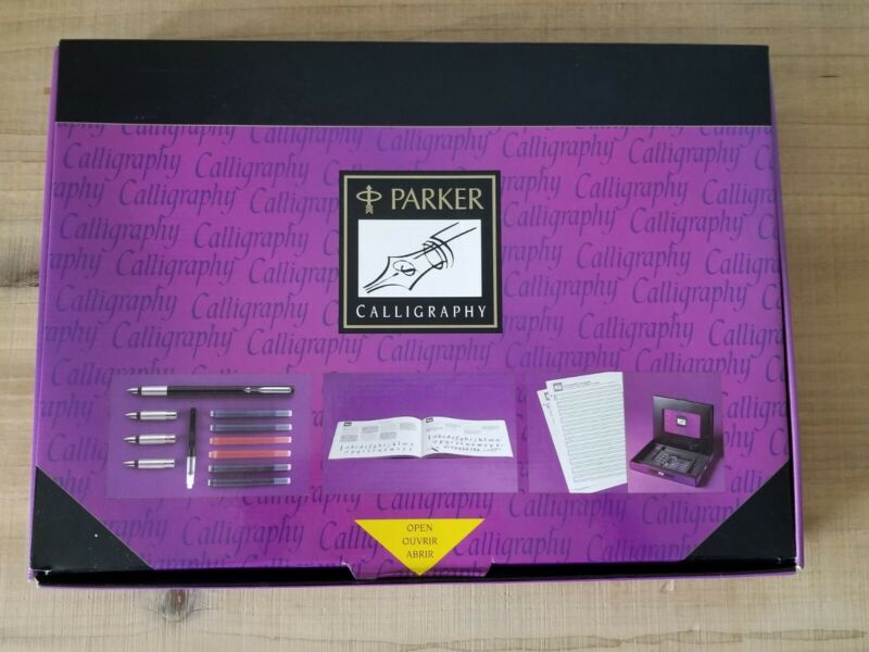 NOS Parker Calligraphy Set, Vector Fountain Pen With Instruction Book