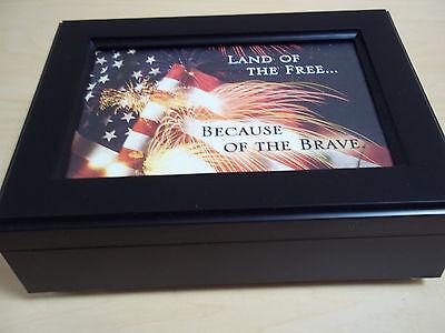 Garden Music - Cottage Garden Music Box - Patriotic - Land Of The Free - New