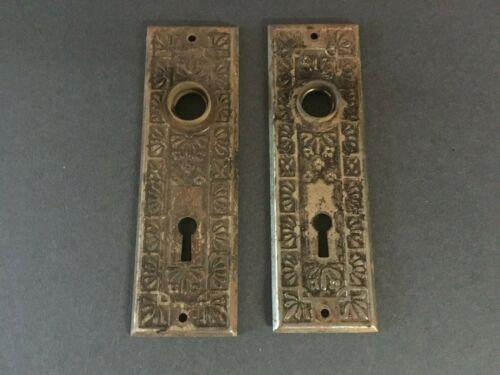 Vintage Doorknob Backplate x 2- Ornate
