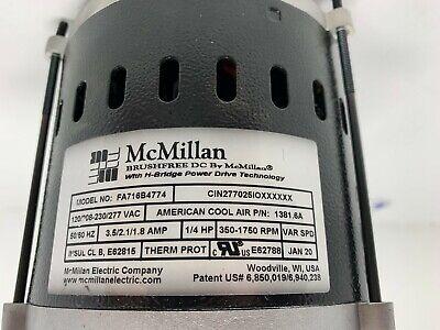 Mcmillan Fa716b4774 120208-230277 Brushfree 350-1750 Rpm Variable Speed Motor