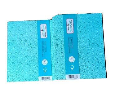 2 Martha Stewart Avery Smooth Finish Blue Mini Binder 3-ring 9 12 X 7 14