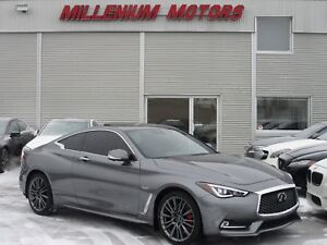 2017 Infiniti Q60 3.0t AWD RED SPORT 400 / TECH PKG / 14,700 KM