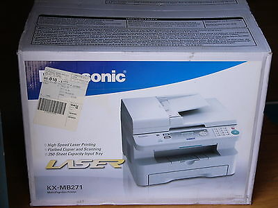 NEW Panasonic KX-MB271 All-in-One Flatbed Laser Office Machine w Print Scan Copy