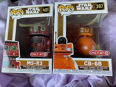CB-6B M5-R3 pair Funko POP STAR WARS #401 & #397 Target Exclusive GALAXY'S EDGE