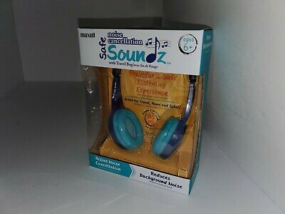 Maxell Kid Safe Soundz Noise Cancellation Wired Foldable Blu