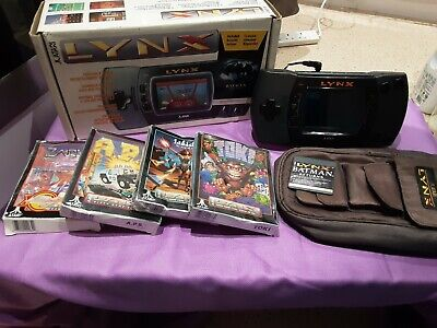 Atari Lynx 2 Console boxed with case and games