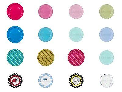 Stk/18cm oder 23cm Platte Geshirr Gedeckter Tisch Farben (Farbe Papier Platten)