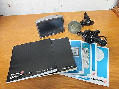 "TomTom One XL 4S00.008 US & Canada Maps 4.3"" GPS Navigation Bundle - Works"