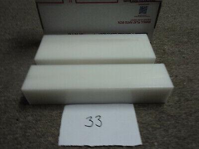 White Delrin Acetal Sheet Block Cnc Mill 2 Pieces 33