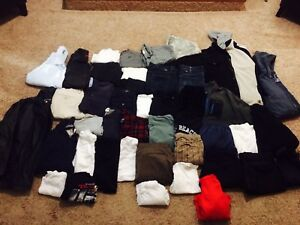 Mens lot! Size M/L - 50 items! Leather Jacket, Hurley..