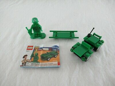 Lego Toy Story 3 Green Army Men Army Jeep Set #30071 2010 + Medic Stretcher