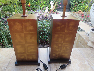 Pair of Fine Art Lamps 330210 Quadralli Tall Dimming Table Lamp