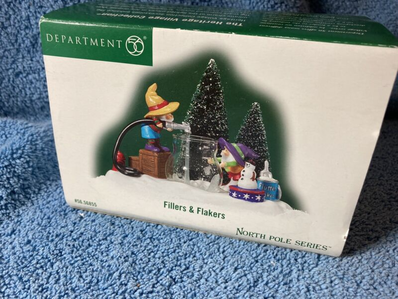 """Dept. 56 North Pole Series """"Fillers & Flakers"""" # 56.56855 OB (#)"""
