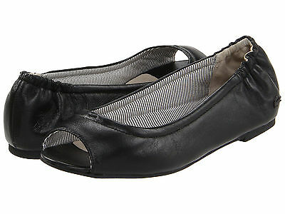 Lacoste Women's Candale Flats Leather Classy Ballet Loafers Fashion SZ 5,5 NIB -