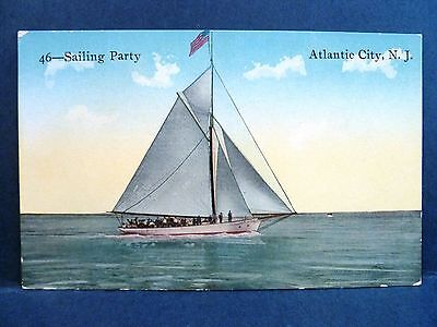 Postcard NJ Atlantic City Sailing Party Boat - Party City Nj