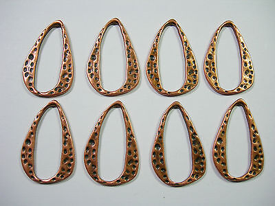 dangles Antique Silver plated swirly drops connectors links 6-19 x 21mm