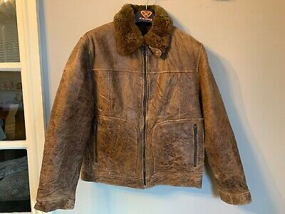 VINTAGE S.OLIVER SHEEPSKIN LEATHER JACKET SIZE L CLASSIC CAR OR MOTORCYCLE